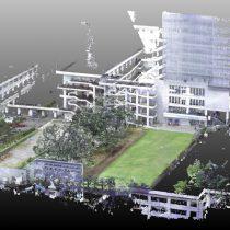 3D計測 大学キャンパス 中庭全景